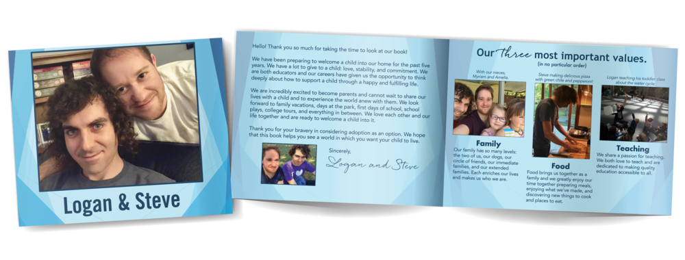 Adoption profile book for two hopeful dads