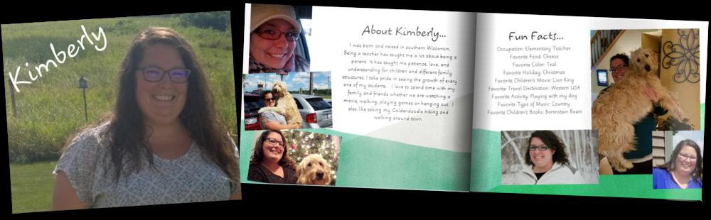 Adoption profile book for Kimberly