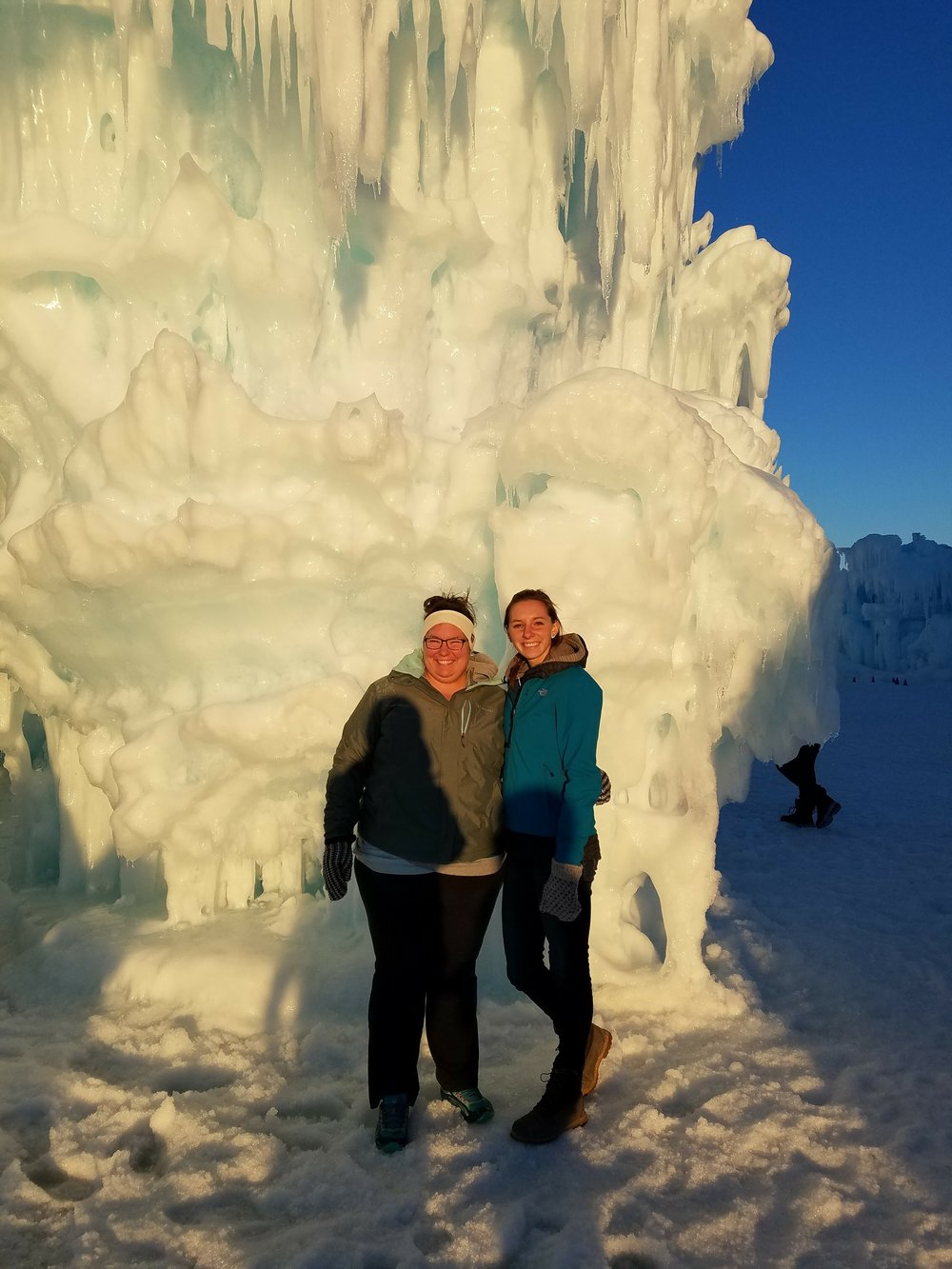 Road trip to the ice castles with the family.