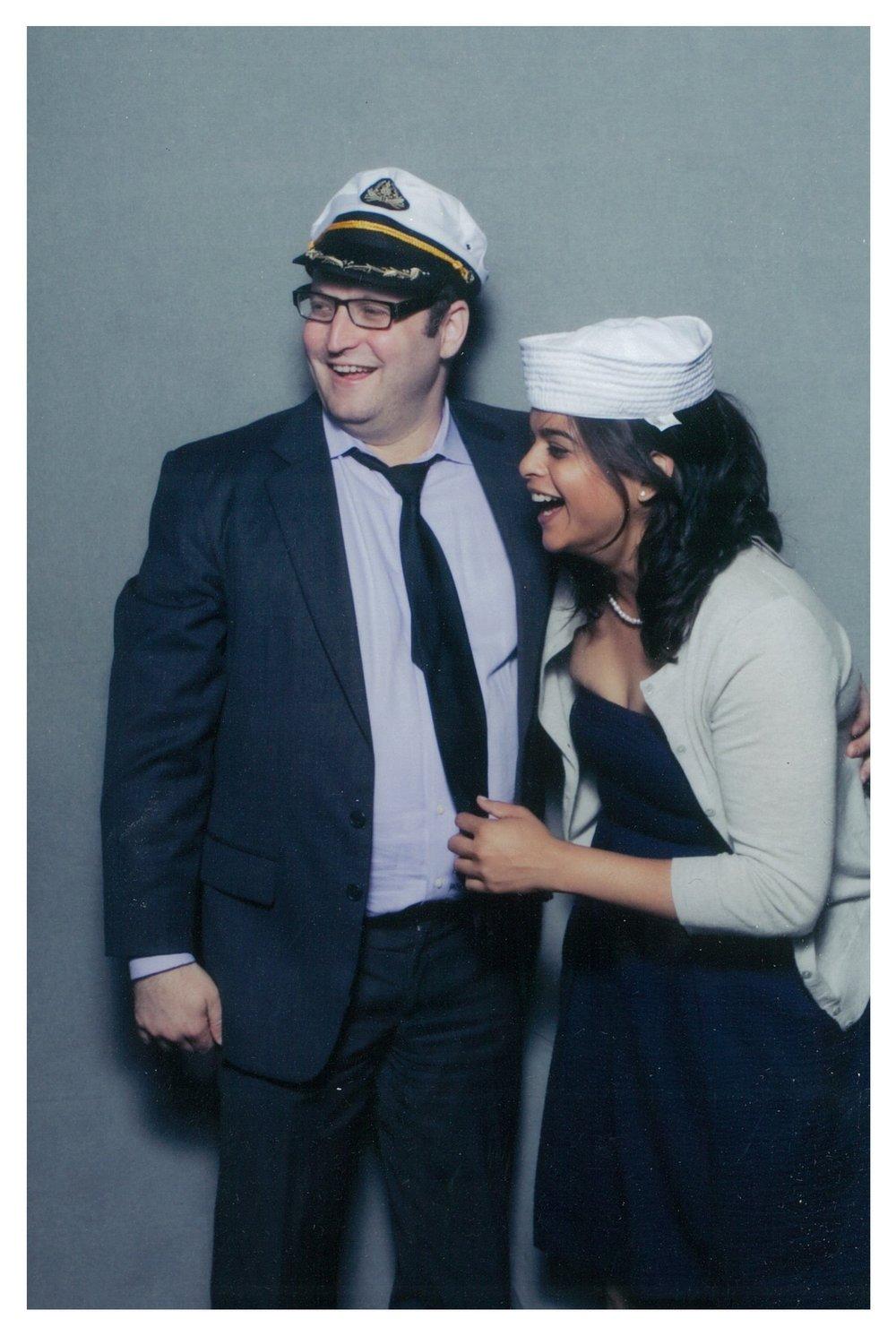 Photo booth fun at a friend's wedding