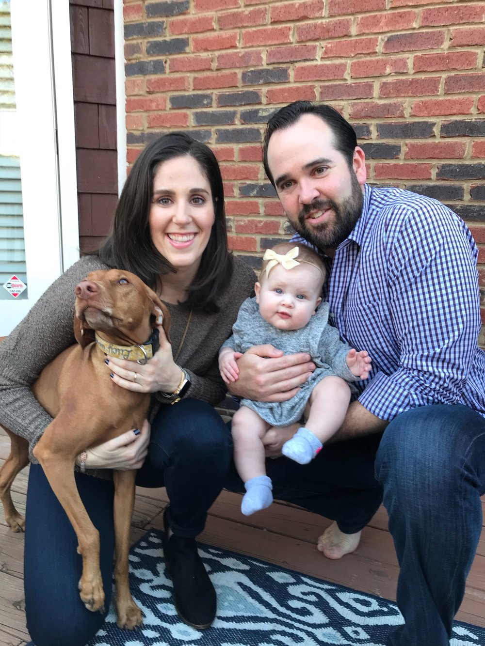 Lauren, Mike, Avery and their four legged friend can't wait to adopt