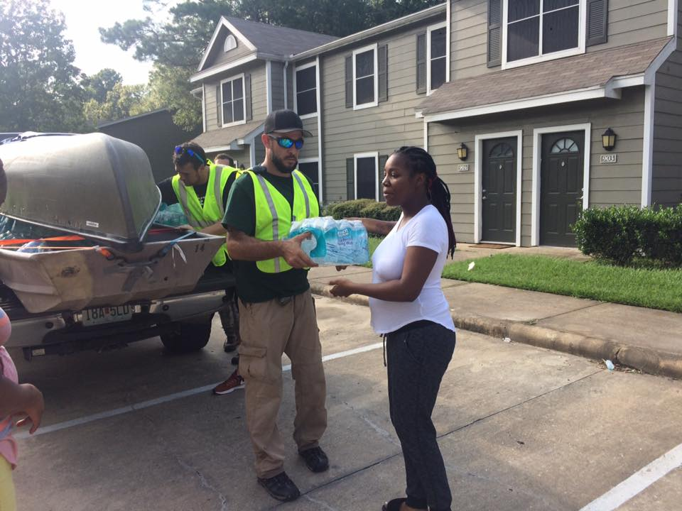 H.A.S. Team member aiding in Hurricane Harvey