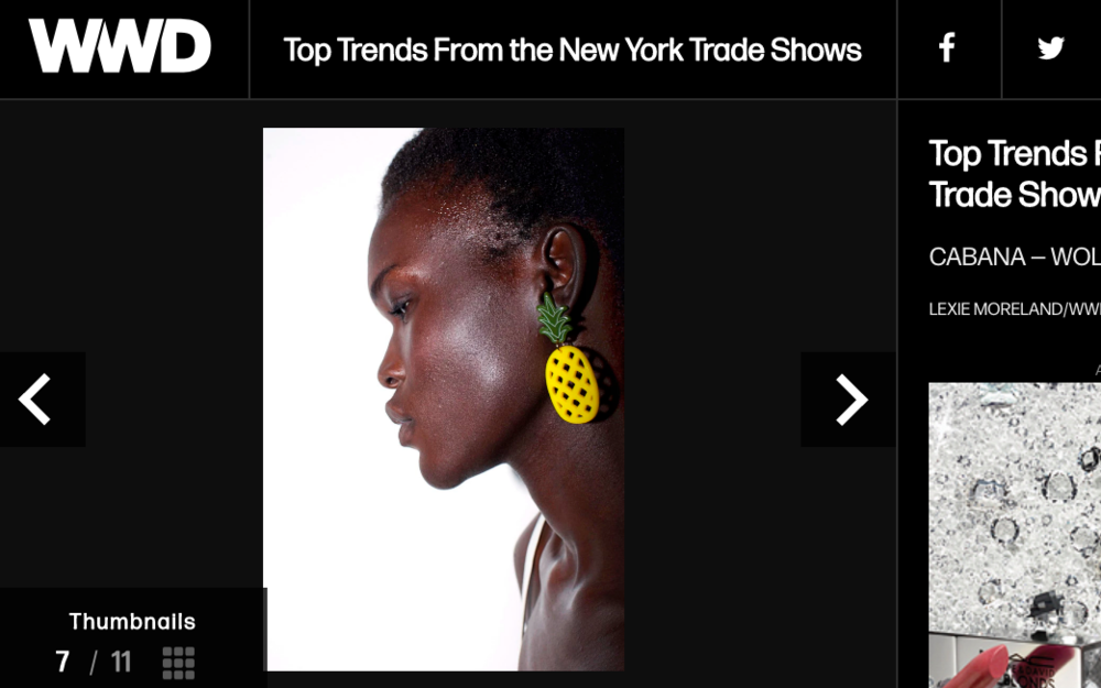 Women's Wear Daily: Top Trends From the New York Trade Shows ft. WOLL - Large Pineapple Earrings