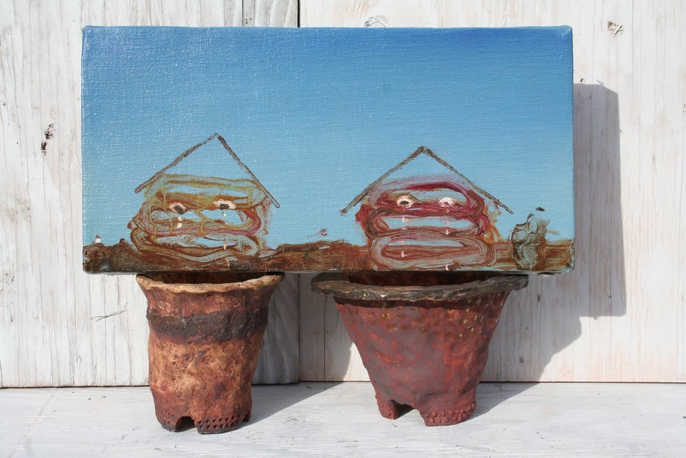 - Two Houses Crying Over Bonsai Pots