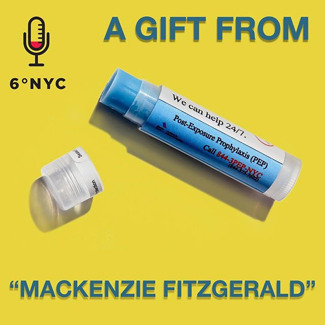 "Our 4th guest is not named ""Mackenzie FitzGerald"", but she did give us this chapstick, which is pretty cool.  It's also cool how familiar she is with infectious diseases in NYC (spoiler: look out Gray's Papaya on W72nd, but according to ""Mackenzie"", there might still be some disease smeared on your outside wall) Listen on sixdegrees.nyc or on iTunes with our bio link!#sixdegreesnyc #podcastlife"