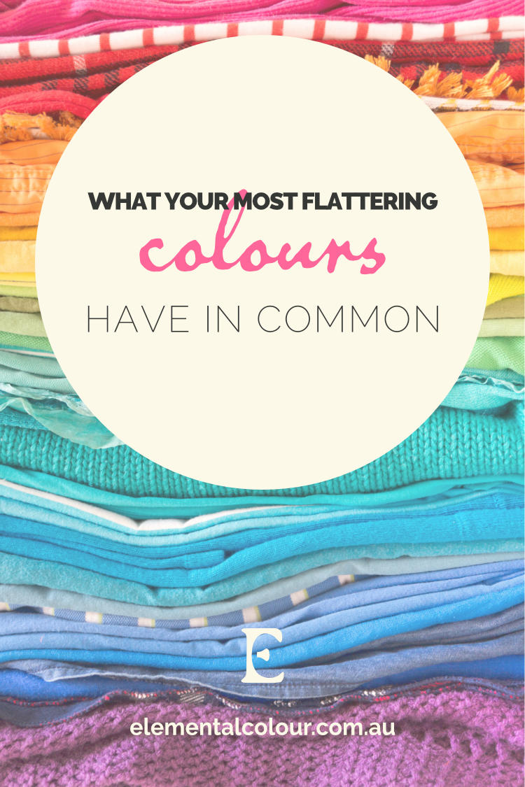 What Your Most Flattering Colours Have in Common:  What makes harmonious colours harmonious?