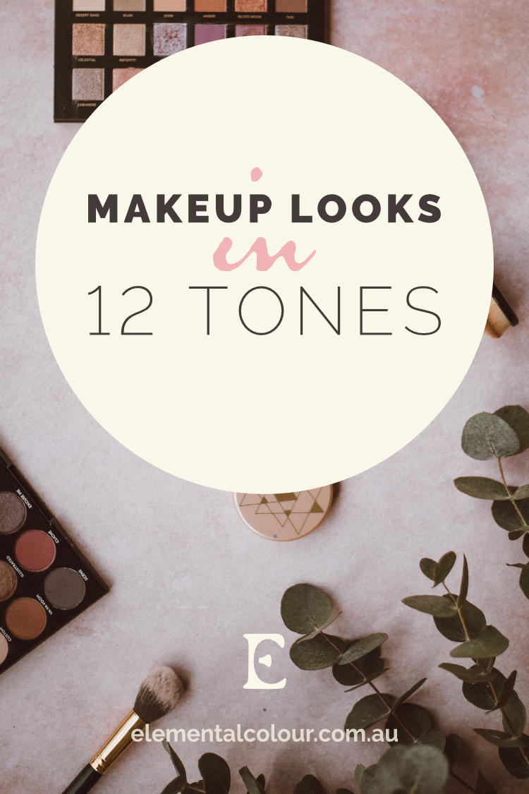 Makeup Looks in 12 Tones:  Beautiful makeup inspiration for each tone