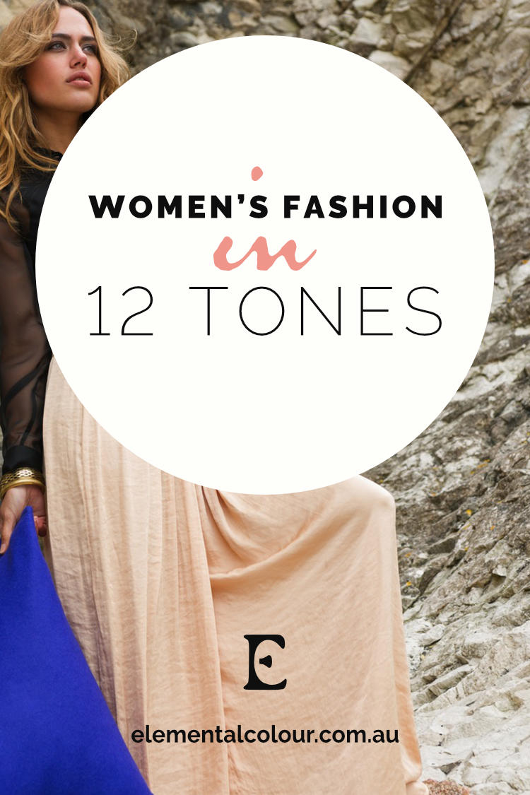 Women's Fashion in 12 Tones:  Outfits for every style, in each of the tones