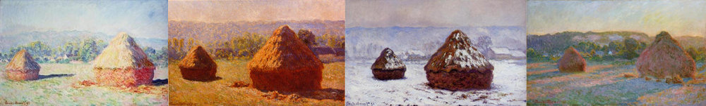 Monet's Haystacks series of paintings