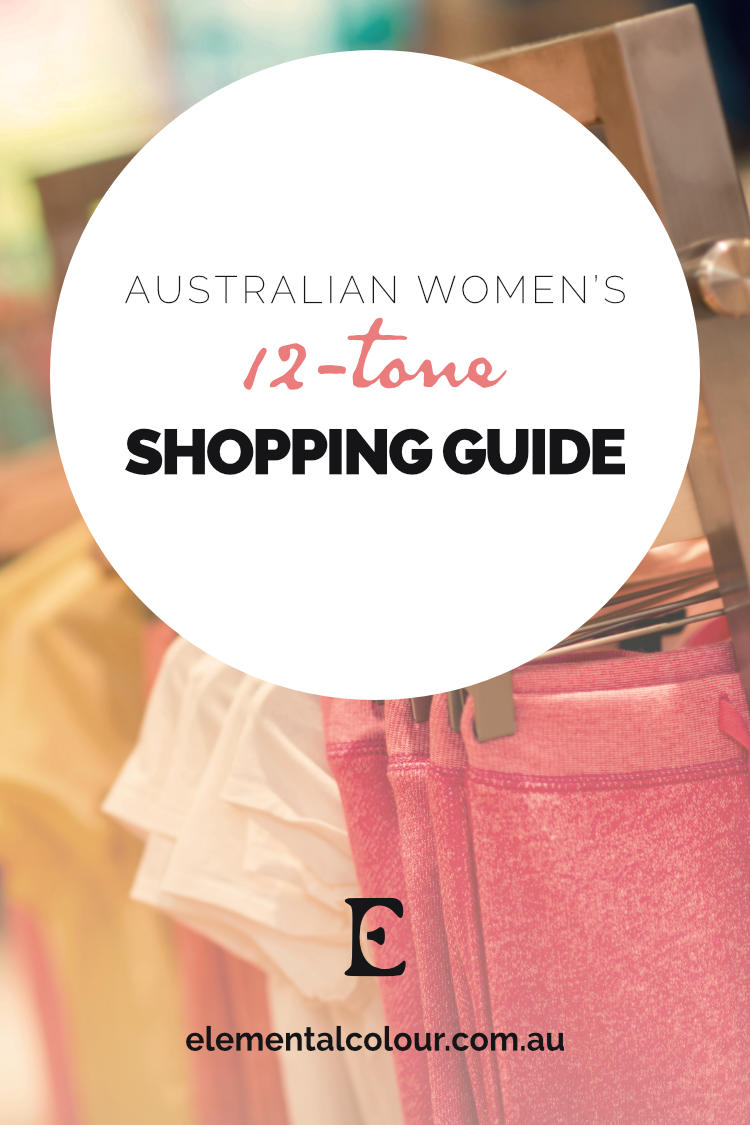 The Australian Women's 12-Tone Shopping Guide:  Where to look for your colours this season