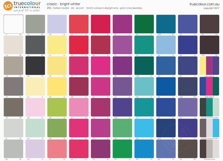 TCI Bright Winter classic palette