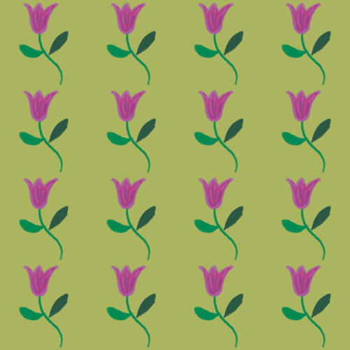 True Winter floral pattern with disharmonious yellow-green background