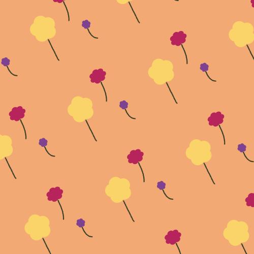 Dark Winter flower pattern with disharmonious background