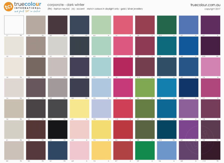 TCI Dark Winter corporate palette