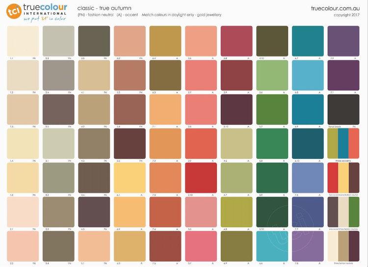 TCI True Autumn classic palette