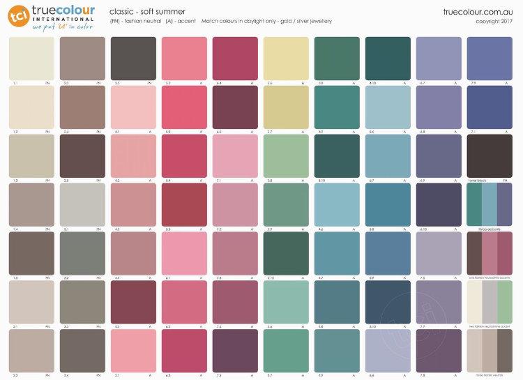 TCI Soft Summer classic palette
