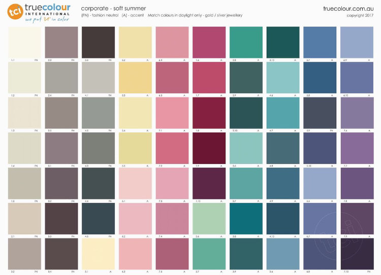 TCI Soft Summer corporate palette