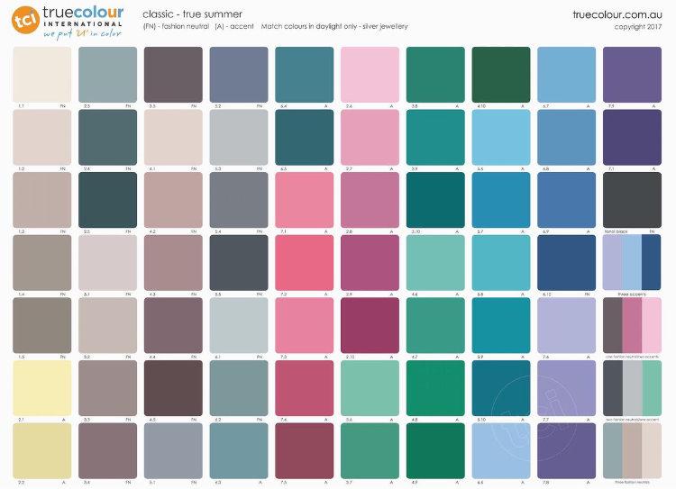 TCI True Summer classic palette