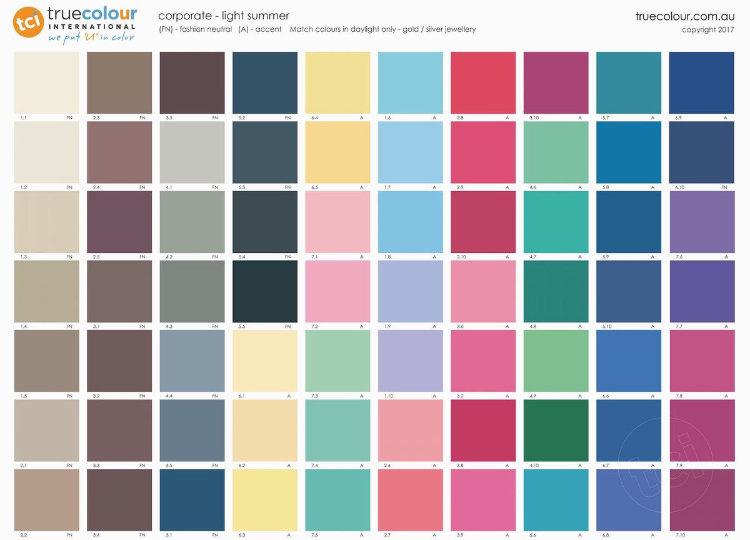 TCI Light Summer corporate palette