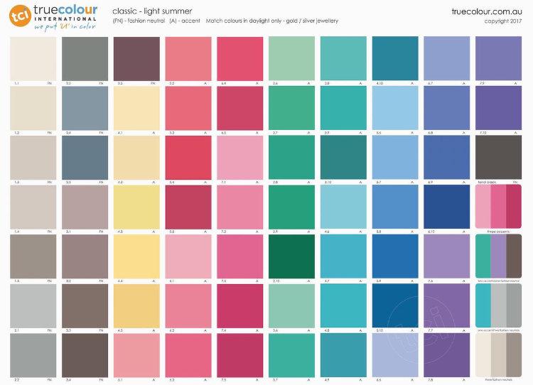 TCI Light Summer classic palette