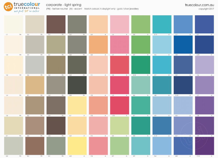 TCI Light Spring   corporate palette