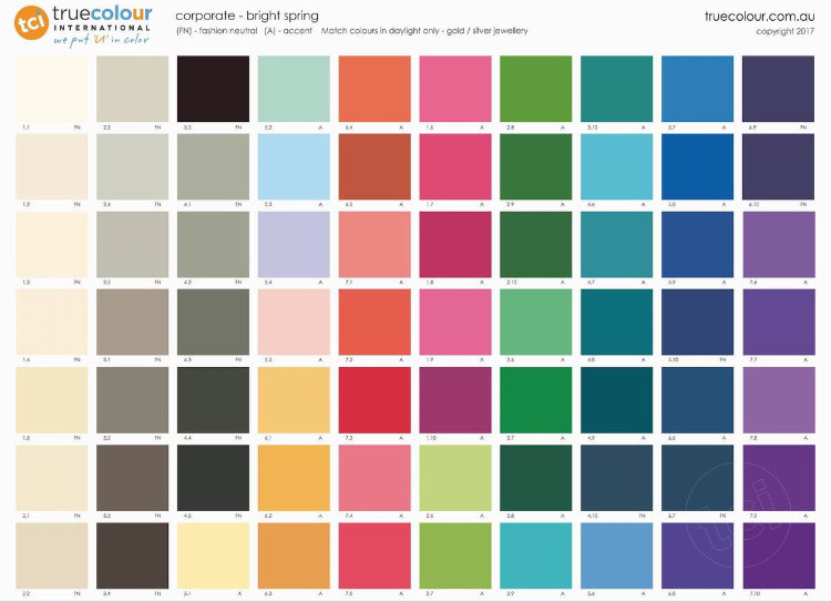 TCI Bright Spring corporate palette