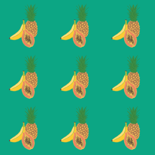 True Spring fruit pattern