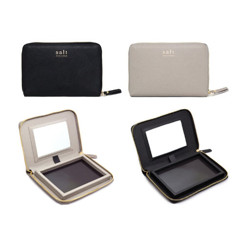 Salt New York palettes - Hold 20 shadows, available in Black or French Grey. US$35