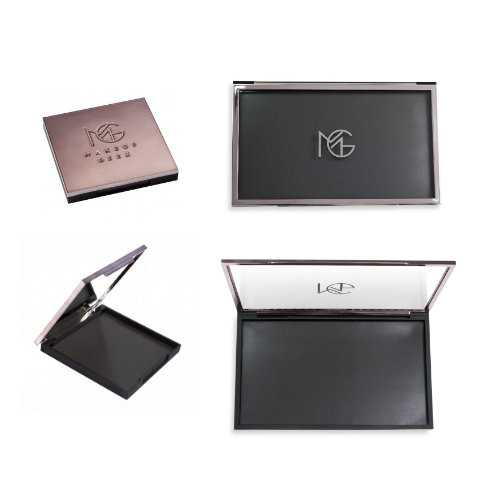 Makeup Geek palettes - Travel Vault holds 9 shadows. US$13Mega Vault holds 28 shadows. US$28