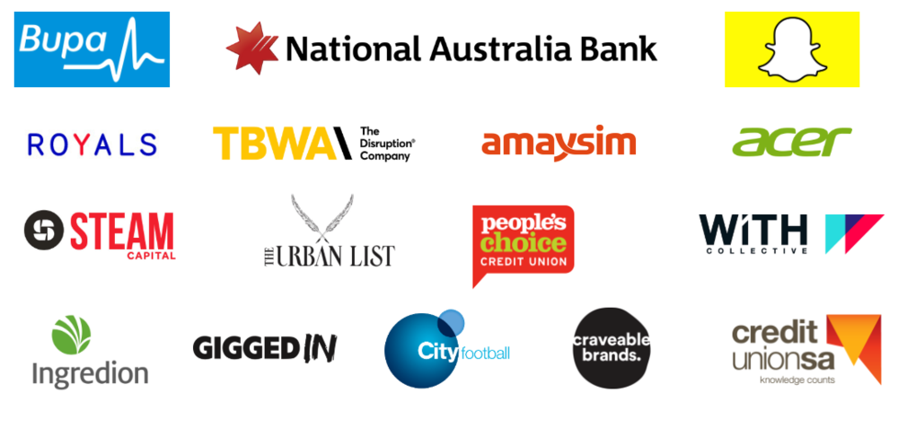 All of the above organisations are currently implementing the findings of The Australian Millennial Report in their businesses.