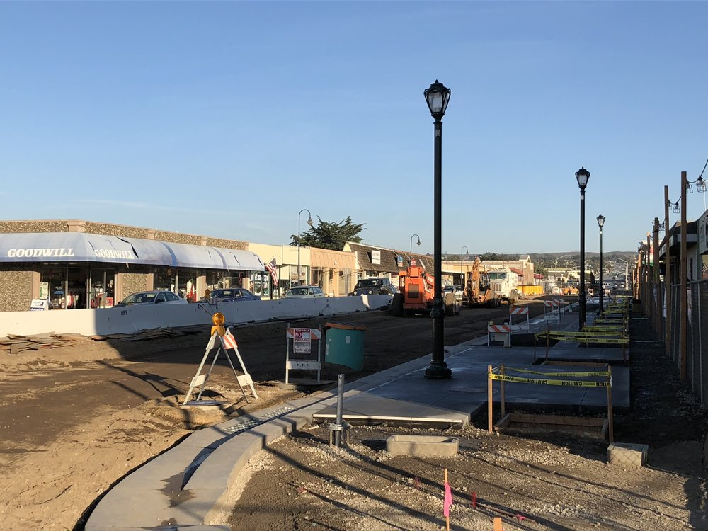 Broadway Avenue construction in 2018.