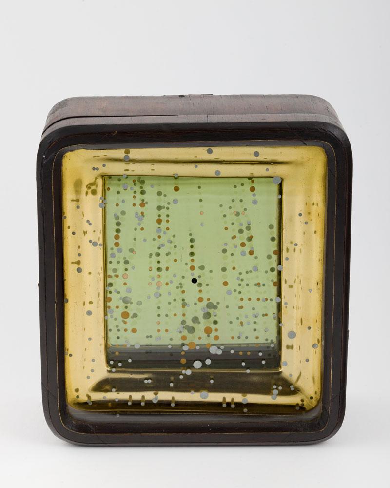 Uranometria , 2018  Kiot: reflective film, gold leaf, timber and glass  20 x 18 x 6 cm