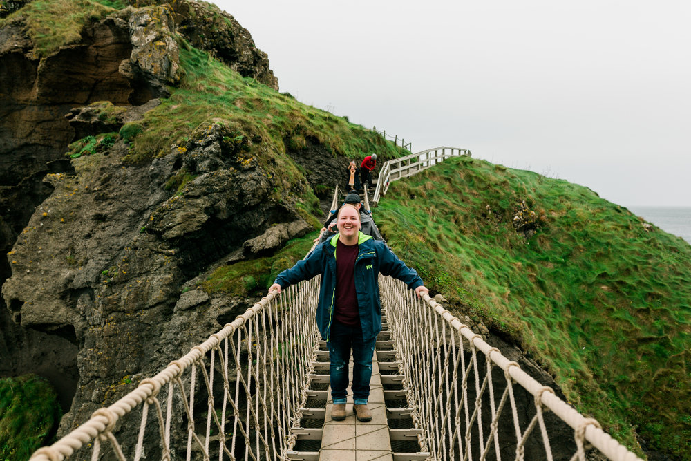 Carrick-a-Rede Rope Bridge, Northern Ireland, October 2018