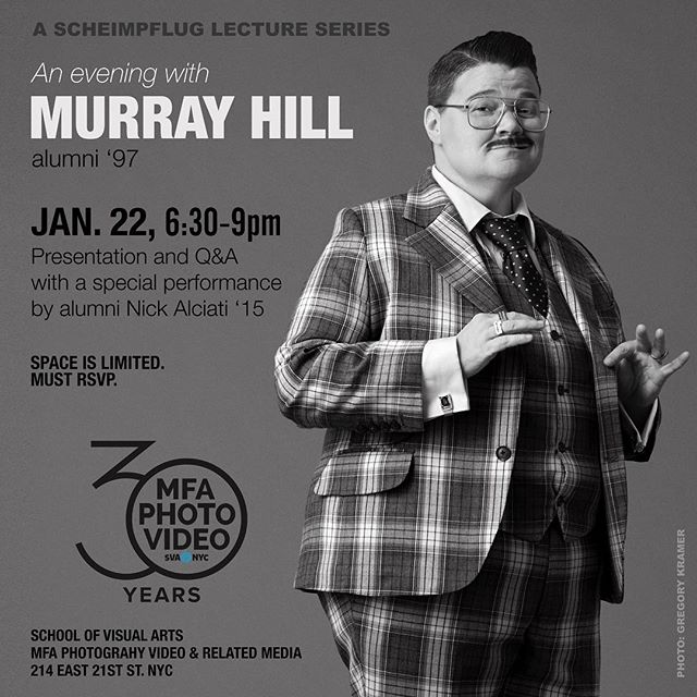 ✨An Evening with MURRAY HILL ✨Jan 22nd, 6:30-9pm. Free. 🎨 School of Visual Arts (my alma mater!) @svanyc @mfaphotovideo I'll be giving a rare public presentation of my early work, including running for mayor! Q&A to follow. Special performance by @nickalciati (alum '15) Space is very limited, must RSVP #linkinbio 📷 @gregory_kramer #showbiz