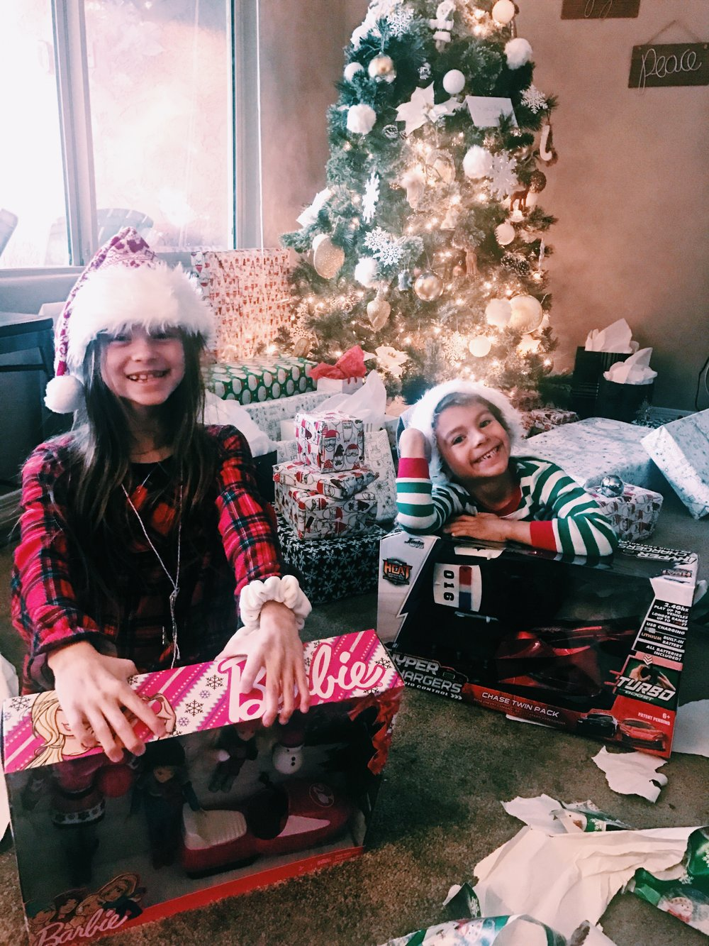 Christmas 2017 was interesting. Between Thanksgiving and Christmas there was Flu's going around like crazy and we were getting hit left and right. We survived it though and luckily Christmas Eve and Morning everyone was pretty much normal so we could enjoy the gift giving.