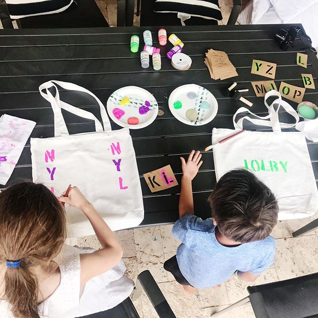 Doing some fun Summer Homeschooling with both kids. They got to paint their summer homeschooling book bags. Video & blog post should be coming.