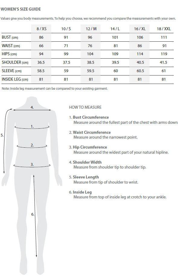 Tooralie wool denim jeans size guide