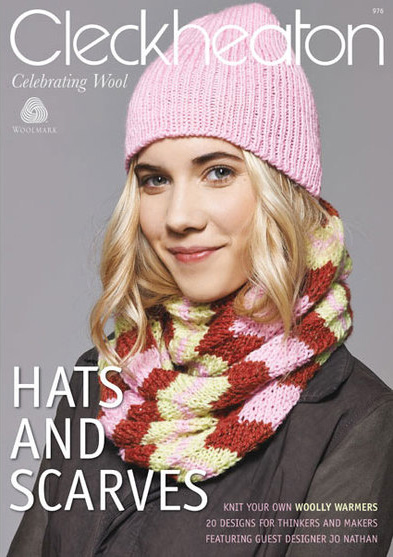 Cleckheaton woollen yarn Knitting Pattern for hats and scarves 248d5d965b1