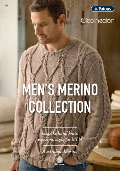 c732e74f5f Patons and Cleckheaton knitting pattern — men s Merino collection