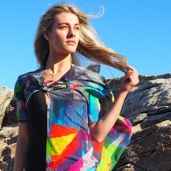 Silk Art Scarves | Kimono — Metro 1 Lime $145.00