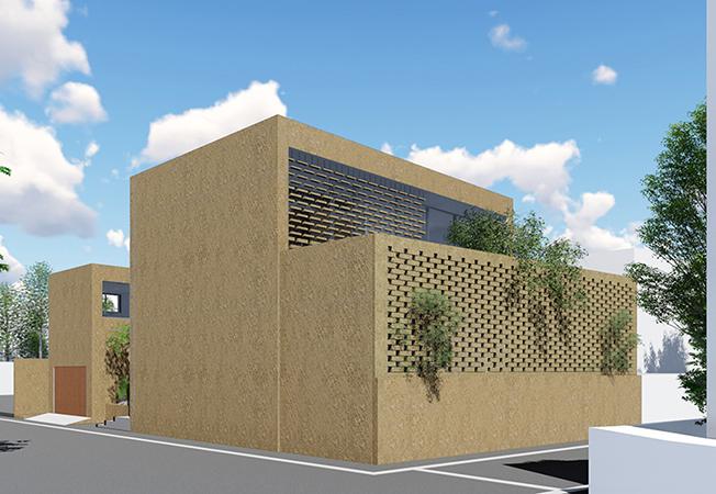 目黒の高密度な住宅地に計画中の住宅で、この東京ブロックを内外装に利用する予定でいる。