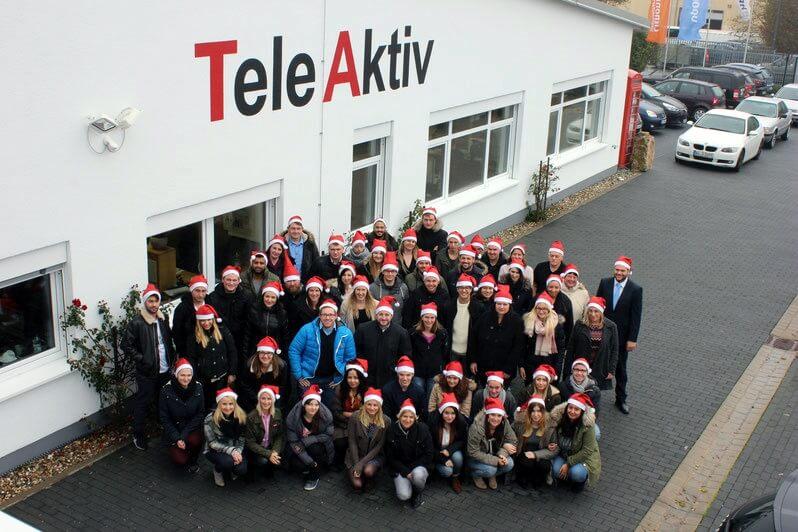 Unser Mitarbeiterteam zur Weihnachtszeit 2016 in Würzburg.