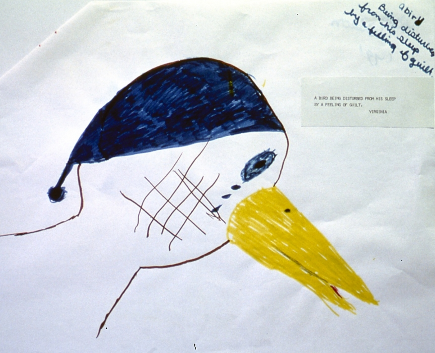 A bird being disturbed from his sleep by a feeling of guilt -  Virginia