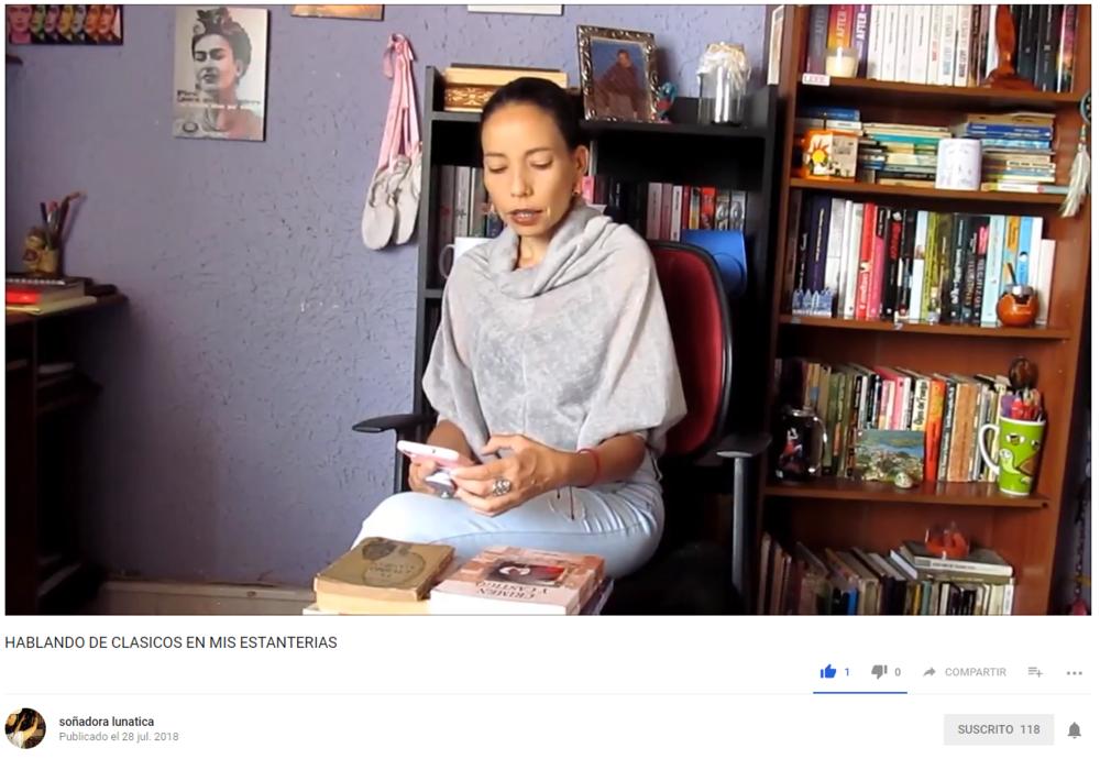 Pepita en su Vblog  Soñadora Lunática