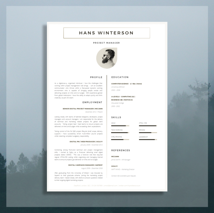 Resume Template Image 1 2 CV