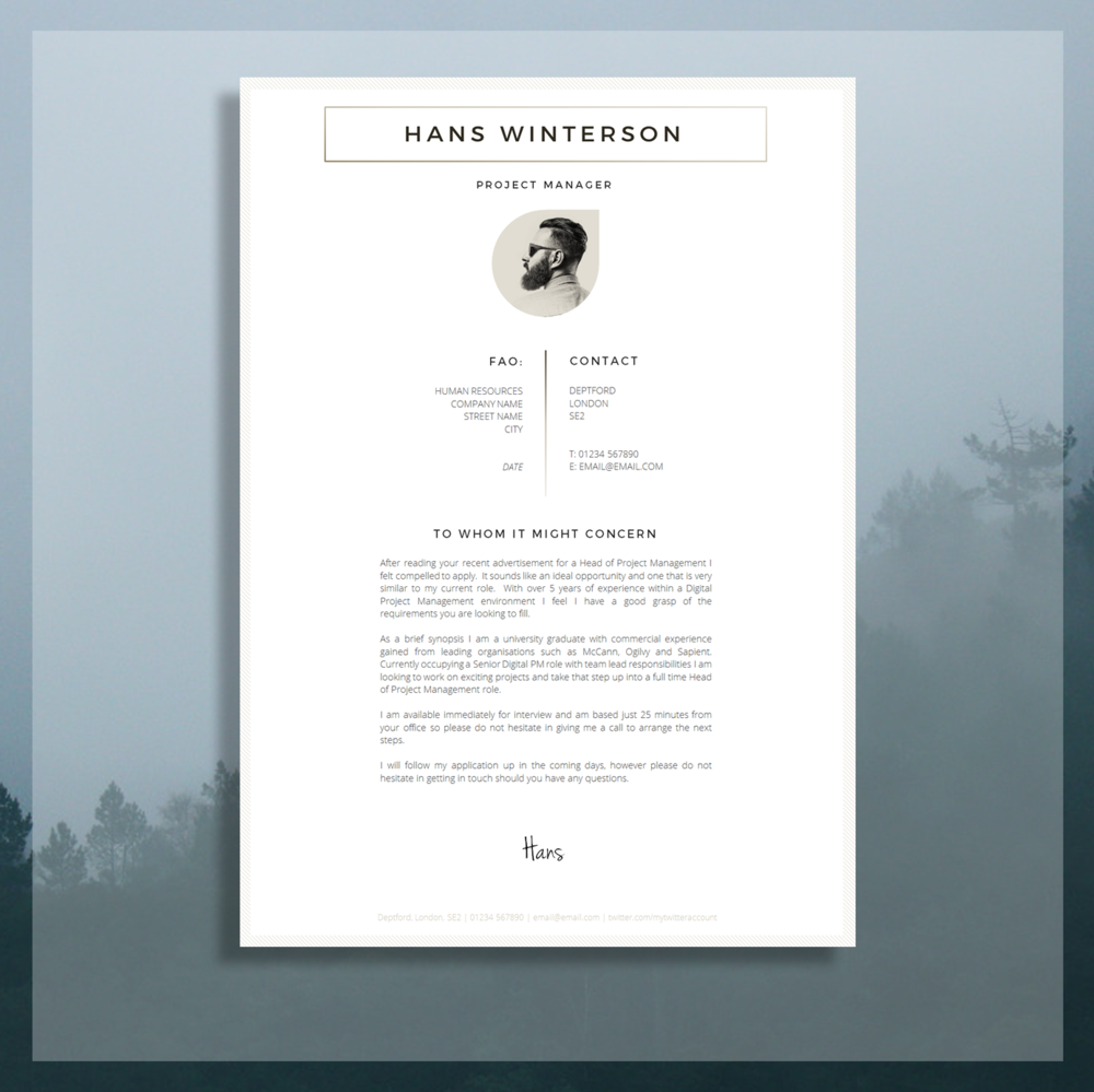 Cv Template Rsum Template For Word Cover
