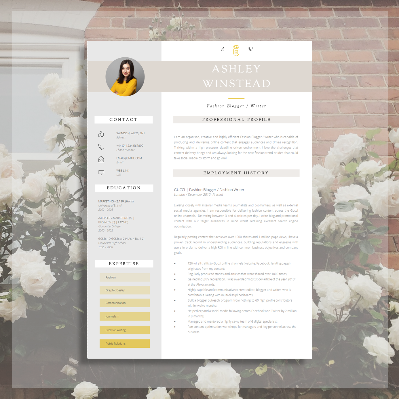 Modern Resume Design | Creative Resume Template | Resume + Cover