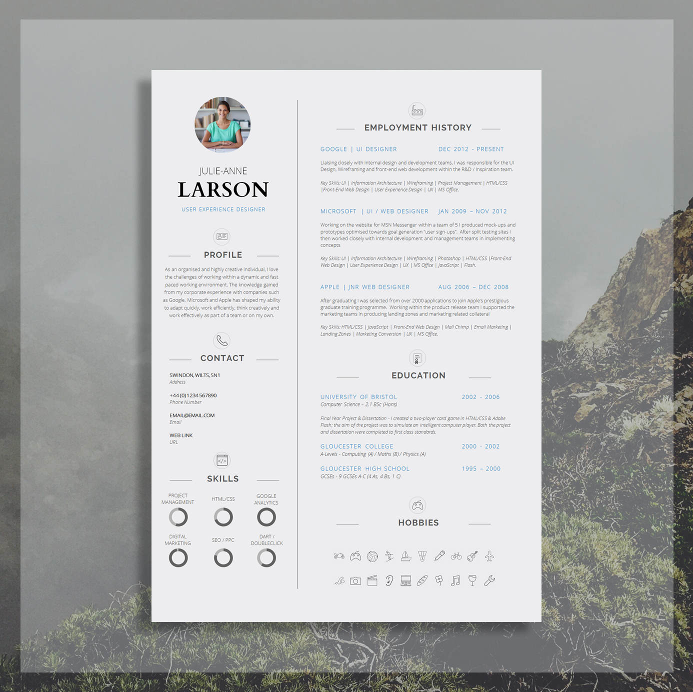 Resume Template   CV Template + Cover Letter + Application Advice ...