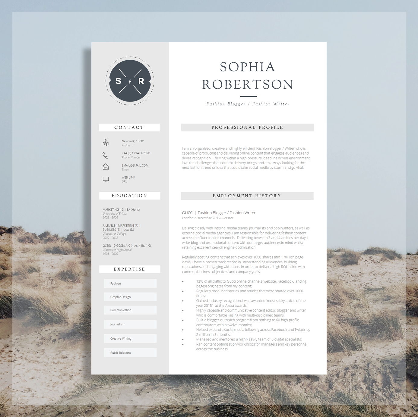 creative resume template | teacher resume | creative cv design +