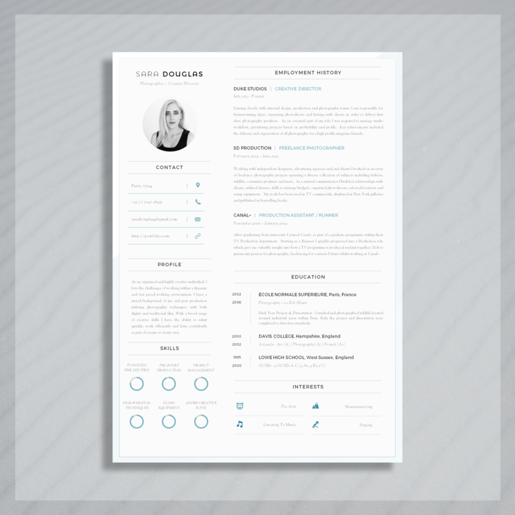 Fabulous Modern Resume Template | Single Page Resume Template + Cover #FY36